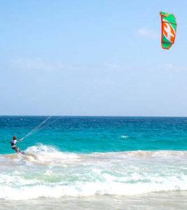 Kite surf sull'Isola di Sal a Capo Verde